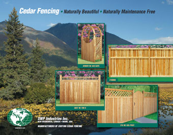 Modern Fence is certified distributor of SWP the largest custom wood fence manufacturer