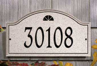 Personalized Name & Address Plaques 2010 Decorative Plaques